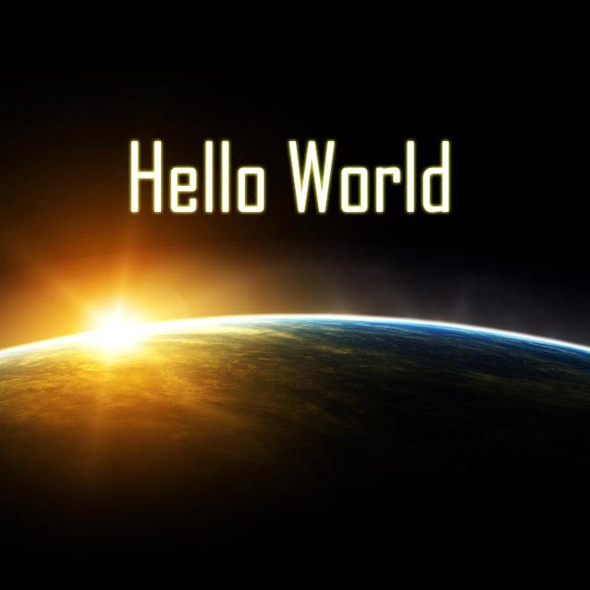 プログラムの王道 Hello World!